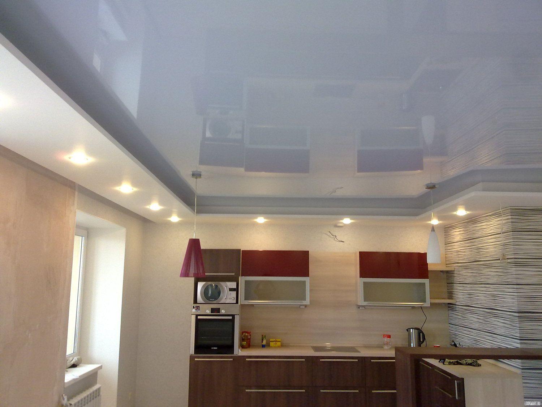 Глянцевые натяжные потолки дизайн